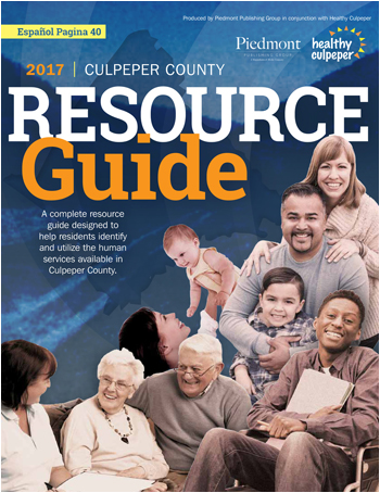 2017 Culpeper County Resource Guide Cover